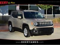Certified. Tank 2016 Jeep Renegade Latitude FWD 9-Speed