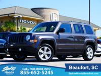 2016 Jeep Patriot in Gray. 4WD. Monumental gas savings.