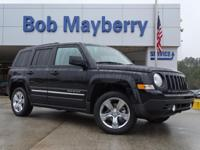 Clean CARFAX. Black Clearcoat 2016 Jeep Patriot