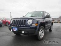 The 2016 Jeep Patriot is equipped with the Sport trim