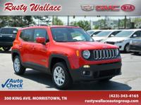 Red 2016 Jeep Renegade Latitude 4WD 9-Speed 948TE