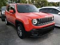 Options:  2016 Jeep Renegade Latitude|Orange|4.438 Axle