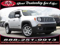 Options:  2016 Jeep Renegade Latitude|Silver|Fast And