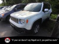 Alpine White 2016 Jeep Renegade Limited 4WD Automatic