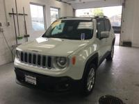 This 2016 Jeep Renegade Limited in Alpine White