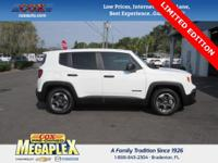 This 2016 Jeep Renegade Limited in Alpine White is well