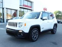 New Price! 2016 Jeep Renegade Limited Alpine White