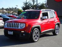 Options:  2016 Jeep Renegade Limited|Red/|V4 2.4 L
