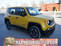 Recent Arrival! 2016 Jeep Renegade Sport Solar Yellow