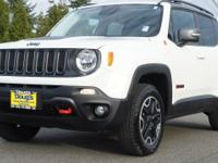 White 2016 Jeep Renegade Trailhawk 4WD 9-Speed 948TE