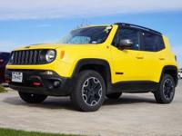 2016 Jeep Renegade Trailhawk in Solar Yellow, 4WD, This