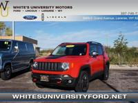 This fine 2016 Jeep Renegade Trailhawk, with its grippy