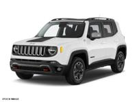 This WHITE 2016 Jeep Renegade 4WD 4DR TRAILHAWK might