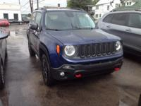 2016 Jeep Renegade Trailhawk In Jetset Blue. One owner