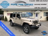 CARFAX One-Owner. Clean CARFAX. Sand 2016 Jeep Wrangler