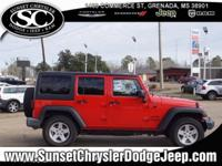 Red 2016 Jeep Wrangler Unlimited Sport 4WD 5-Speed