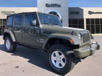 Green 2016 Jeep Wrangler Unlimited Sport 4WD 5-Speed