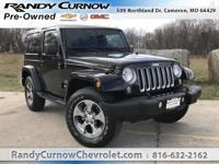 Options:  2016 Jeep Wrangler Sahara|Black