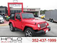 2016 JEEP WRANGLER 2 DOOR SAHARA AUTOMATIC ** HALO