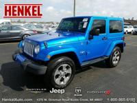 Options:  2016 Jeep Wrangler Sahara|Blue|3.6L V6||2
