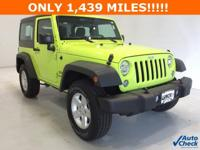 Options:  2016 Jeep Wrangler Sport|**** 4X4 **** Hard