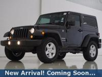 2016 Jeep Wrangler Sport in Black Clearcoat, 4WD, This