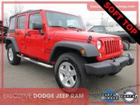 Certified. CARFAX One-Owner. 2016 Jeep Wrangler