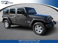 2016 CARFAX One-Owner. Jeep Wrangler granite crystal