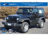 2016 Jeep Wrangler Sport! Carfax One Owner with New
