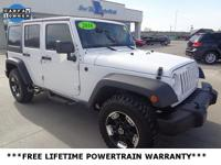 CARFAX One-Owner. White 2016 Jeep Wrangler Unlimited