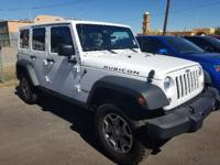 Rubicon trim, Bright White Clear Coat exterior. GREAT