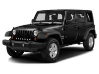Recent Arrival! CARFAX One-Owner. Black 2016 Jeep