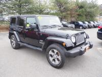 Sahara trim. CARFAX 1-Owner, Jeep Certified, Local One