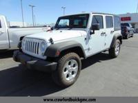 Come see this 2016 Jeep Wrangler Unlimited Sport. It