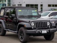CARFAX One-Owner. Black 2016 Jeep Wrangler Unlimited
