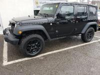 Black Clearcoat 2016 Jeep Wrangler Unlimited Willys