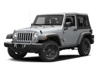 LOW MILES, 1 OWNER, 4WD!!! This 2016 Jeep Wrangler