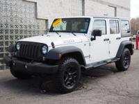 This Bright White Clear Coat 2016 Jeep Wrangler