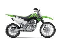The KLX140 off-road motorcycle is fun for both kids and