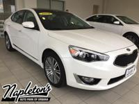 Recent Arrival! Certified. 2016 Kia Cadenza in White,
