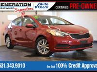 Red 2016 Kia Forte LX FWD 6-Speed 1.8L I4 DOHC Dual