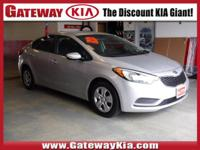 KIA CERTIFIED, THIS SILVER FORTE LX HAS A CLEAN