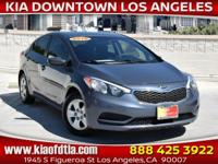 Clean CARFAX. Blue 2016 Kia Forte LX 4D Sedan FWD