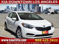 White 2016 Kia Forte LX 4D Sedan FWD 6-Speed Automatic