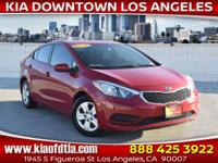 CARFAX One-Owner. Clean CARFAX. Red 2016 Kia Forte LX