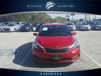 LX trim, Crimson Red Metallic exterior and Black