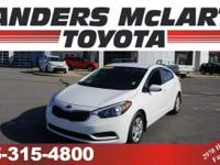 CarFax One Owner! This Kia Forte gets great fuel