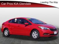 2016 Kia Forte LX LX Red Forte 6-Speed 1.8L I4 DOHC