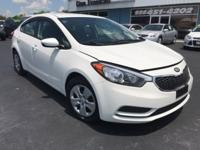 CARFAX One-Owner. Clean CARFAX. Clear White 2016 Kia