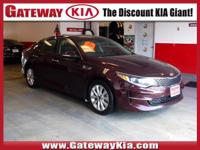 KIA CERTIFIED SANGRIA OPTIMA EX HAS A ONE OWNER CLEAN